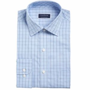 Men's Club Room Blue Button Down Dress Shirt